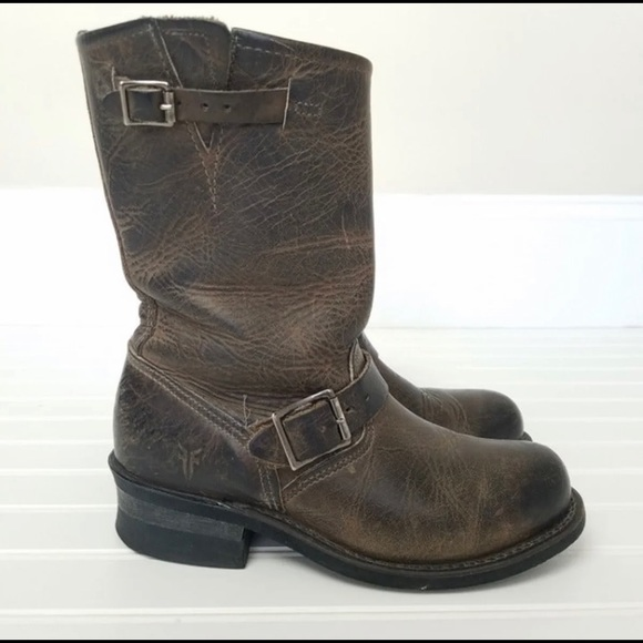 Frye engineer mid calf boots